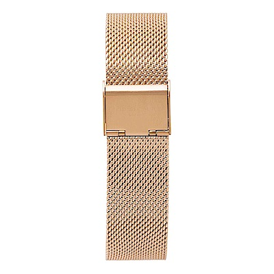 Elie Beaumont 英國時尚手錶 玫瑰金色錶扣米蘭替換錶帶 18mm