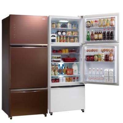 福利品 SAMPO聲寶 455L 1級變頻3門電冰箱 SR-A46GDV(R7) 琉璃棕