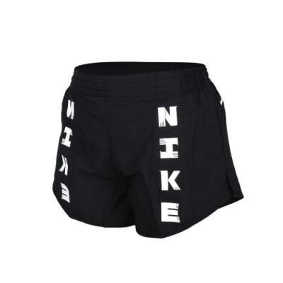 NIKE 女運動短褲-平織 慢跑 路跑 訓練 重訓 瑜珈 三分褲 DRI-FIT CZ1620-010 黑白