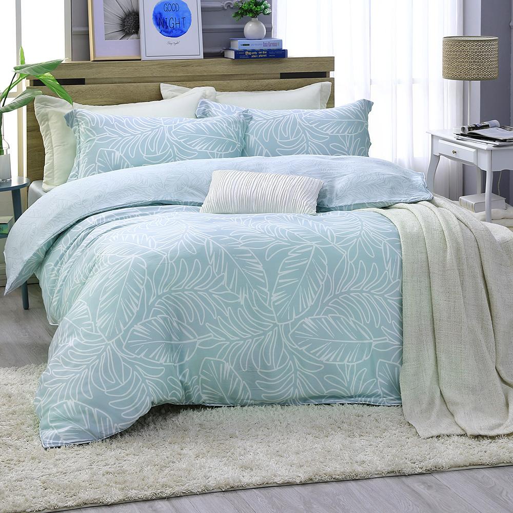 LASOL睡眠屋-300織/100%奧地利天絲 雙人兩用被床包四件組 草本迷情