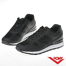【PONY】SOLA 系列-粉彩系列復古休閒鞋-女-黑