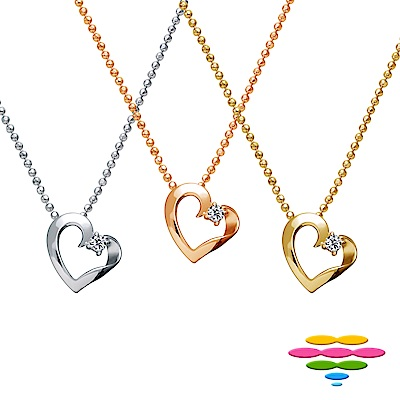 彩糖鑽工坊 18K愛心鑽石項鍊 心有獨鍾系列