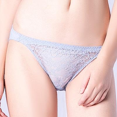 思薇爾 花采柔媚系列M-XL蕾絲低腰三角內褲(木岑灰)