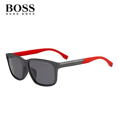 HUGO BOSS- BOSS 0858/F/S 方框太陽眼鏡 紅色