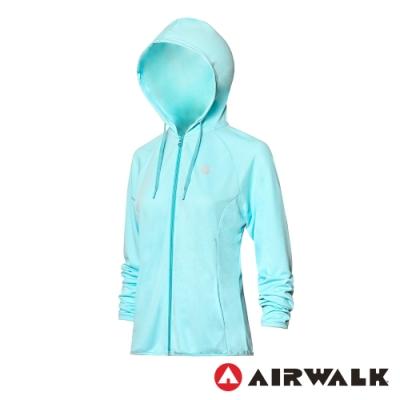 【AIRWALK】抗UV防曬薄外套-女-水藍