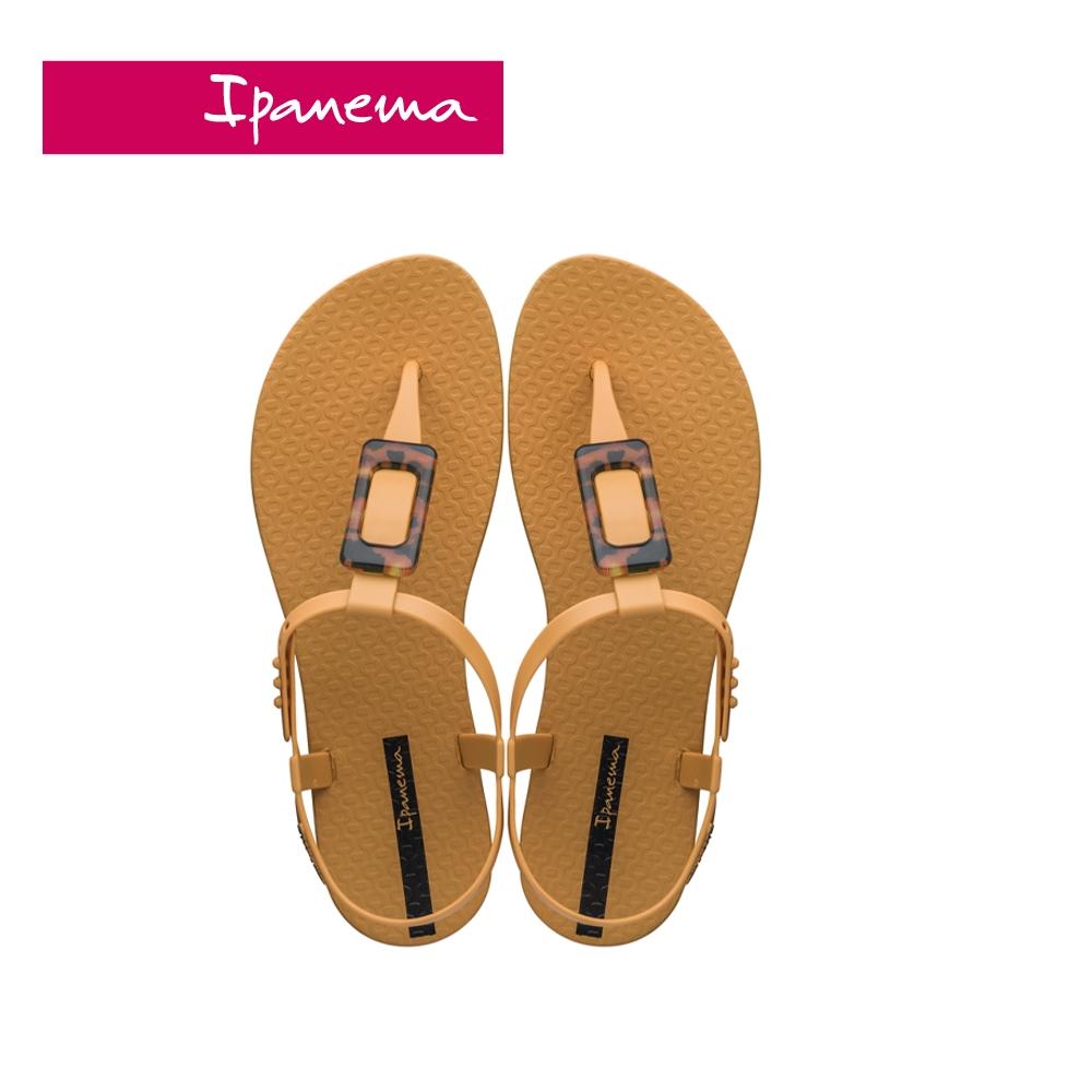 Ipanema CLASS LIFE 方型裝飾T字涼鞋-棕