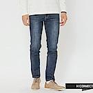 H:CONNECT 韓國品牌 男裝-水洗刷色牛仔長褲-藍