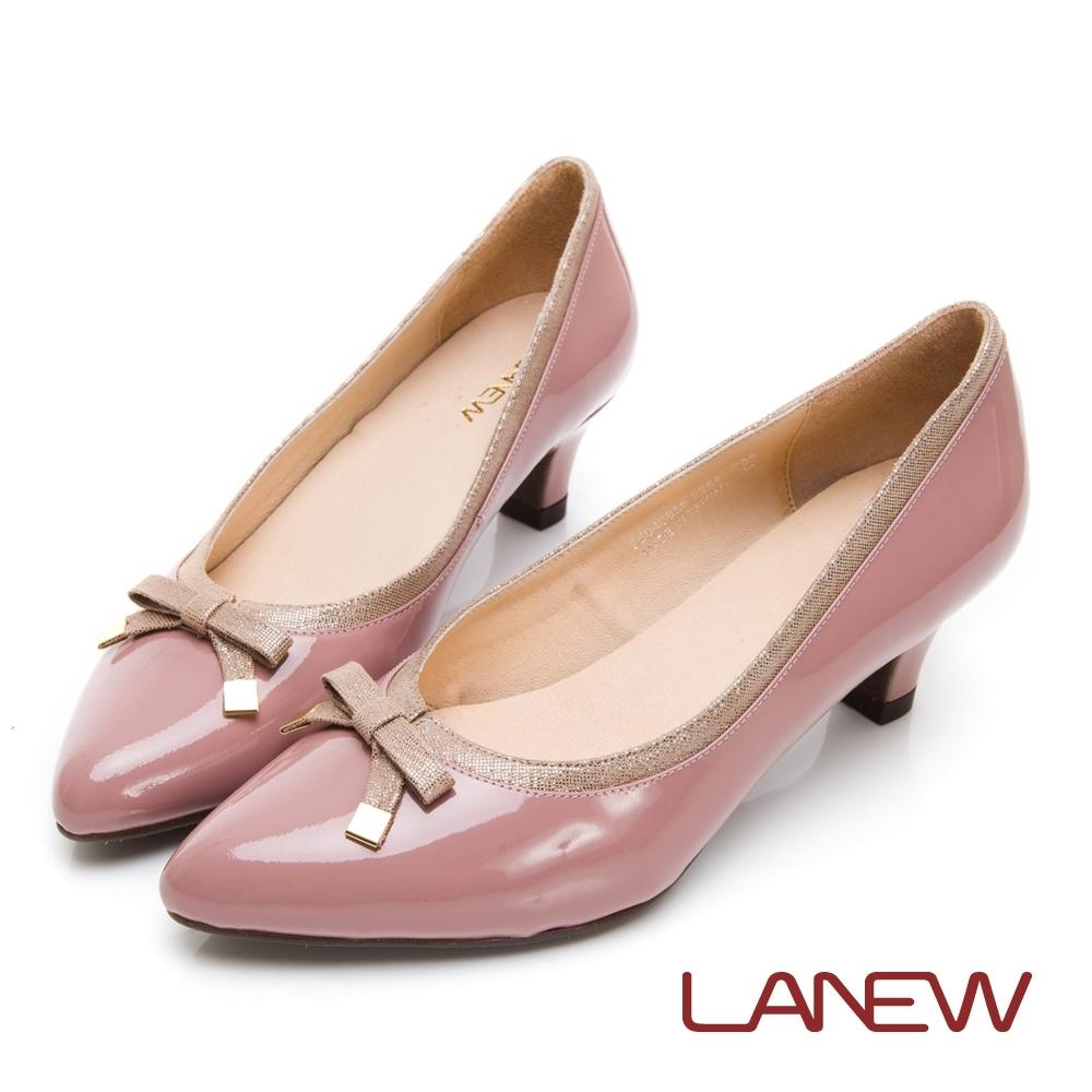 LA NEW 呵護 簡約蝴蝶結飾釦高跟鞋(女225048856)