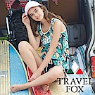 TRAVEL FOX夏之戀 大女長版四件式泳衣