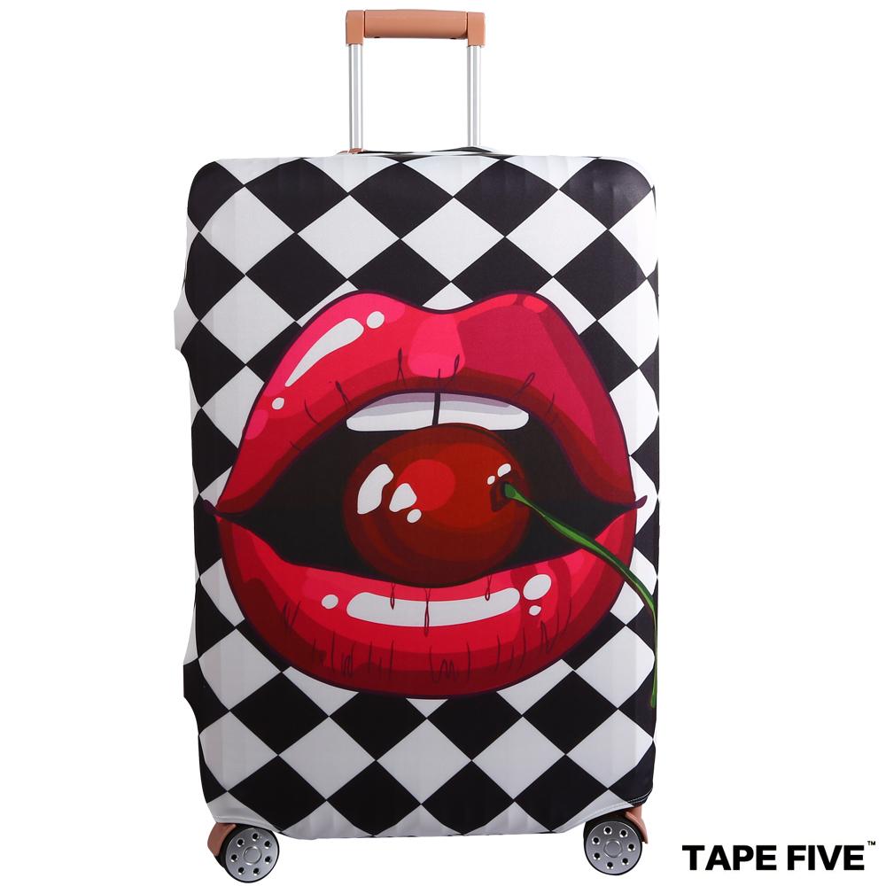 Tape Five 高彈性行李箱套-櫻桃紅唇 (適用27-29吋行李箱)