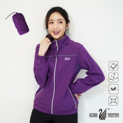 【遊遍天下】中性款反光防曬防風防潑水輕量外套GJ10018紫色(附收納袋)
