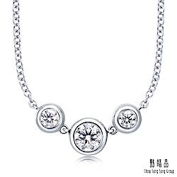 點睛品-INFINI LOVE DIAMOND-Iconic系列- 0.3克拉鑽石項鍊
