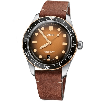 ORIS  DIVERS SIXTY-FIVE 復刻箱型鏡面機械腕錶(0173377074356-0752045)