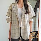 正韓 品味時尚開岔袖西裝外套-(共二色)El Shuddai