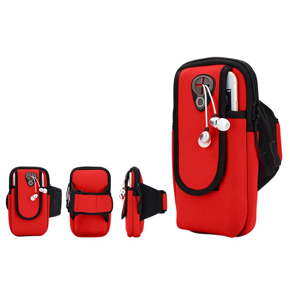 PUSH!戶外休閒用品運動臂包跑步健身包U55-1紅色
