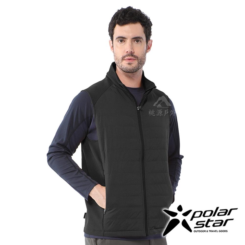 PolarStar 中性 異材質鋪棉背心『黑』P20213