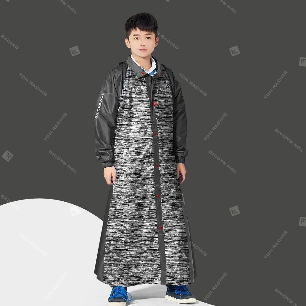 【TDN】飛躍側開背包雨衣連身雨衣前開式雨衣_灰色