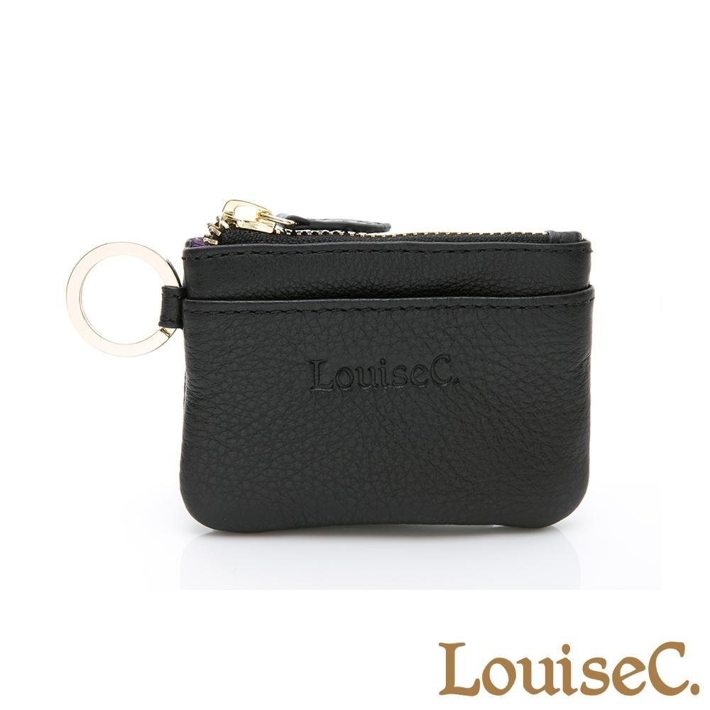 【LouiseC.】現代迷你版零錢鑰匙包-黑色 (16C01-0058A05)
