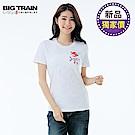 BigTrain鯉魚旗之夏圓領女T-女-白色