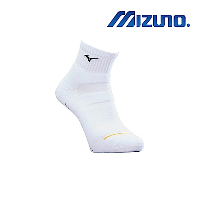 MIZUNO 男運動厚底短襪 5入 白X黑 32TX900109