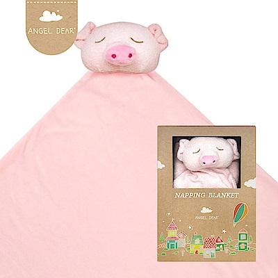 美國 Angel Dear 大頭動物嬰兒毛毯禮盒版 (粉紅小豬)