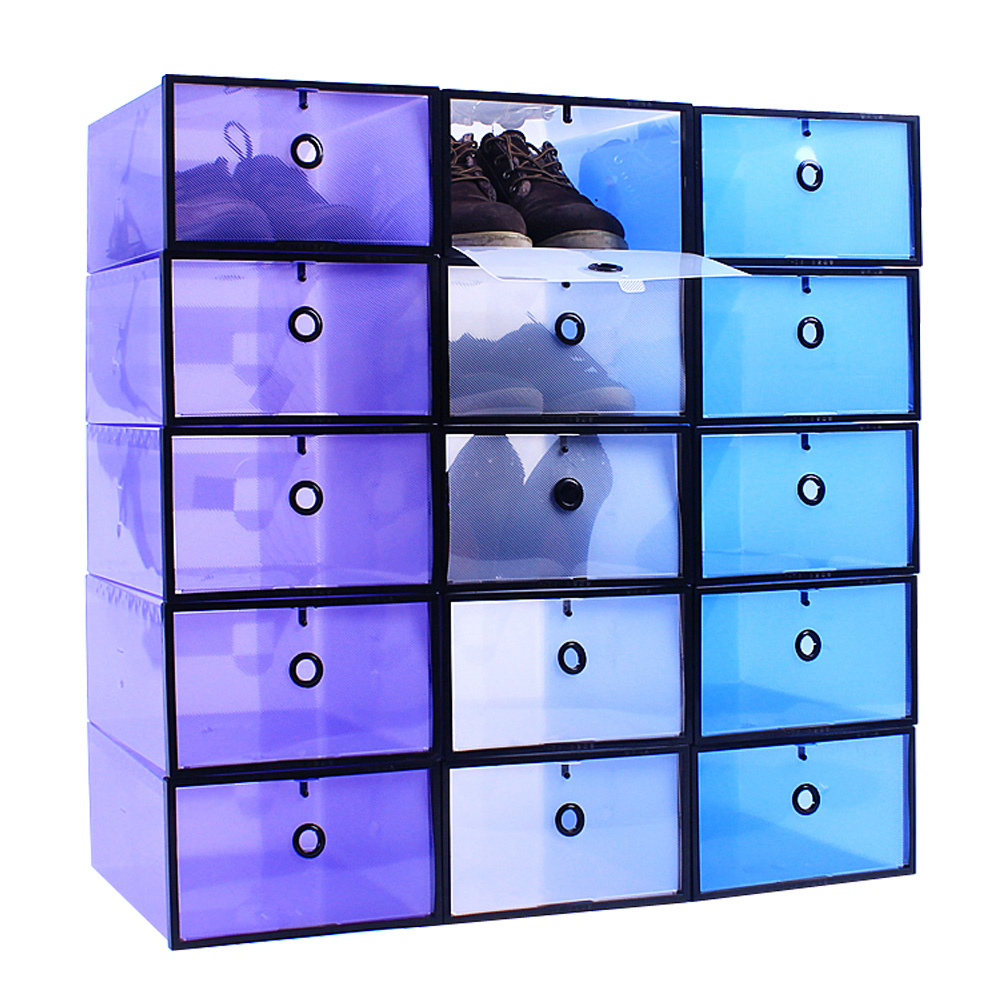 HOME LIFE第五代多功能掀蓋式組合鞋盒-加大款(十二入組)