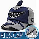 VOSUN 兒童新款 天使之翼 可收折內刷毛抗風保暖覆耳帽子_深藍