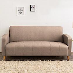 時尚屋 托斯卡尼三人座實木骨架貓抓皮沙發 (共11色)