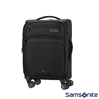 Samsonite新秀麗 20吋 Zira飛機輪可擴充布面TSA登機箱(黑)