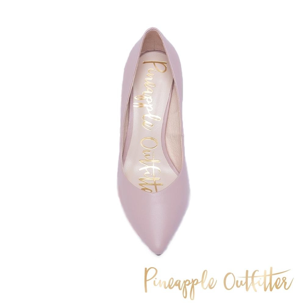 Pineapple Outfitter 優雅美型 麂皮尖頭中跟鞋 藕色