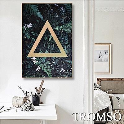 TROMSO 北歐生活版畫有框畫-叢林三角WA67