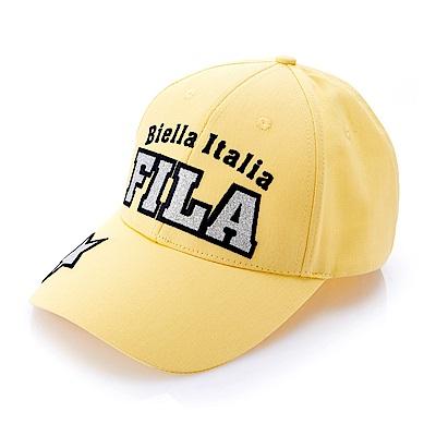 FILA 時尚LOGO 美式復古板帽-黃 HTS-5104-YE
