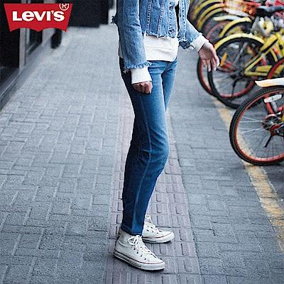 Levis 女款 711 中腰緊身窄管牛仔長褲 亞洲版型 彈性布料