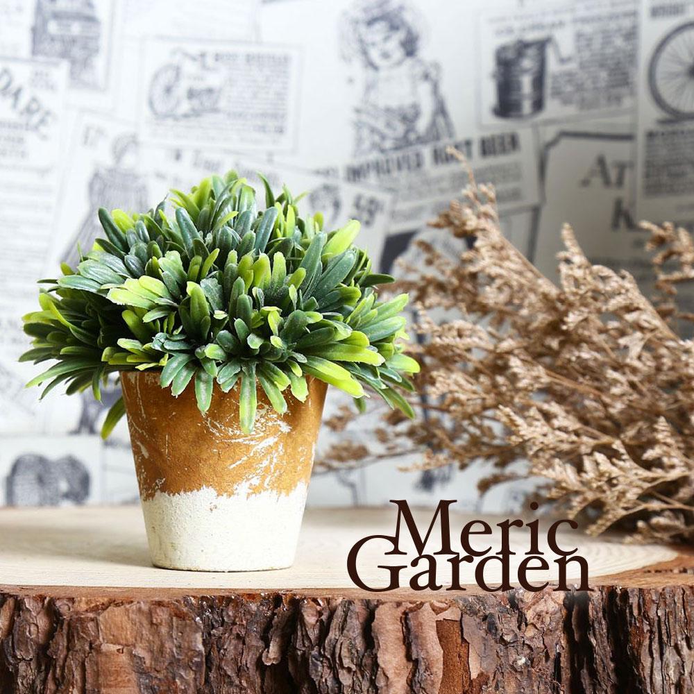 Meric Garden  Zakka風格高仿真植物盆栽(綠半球S)