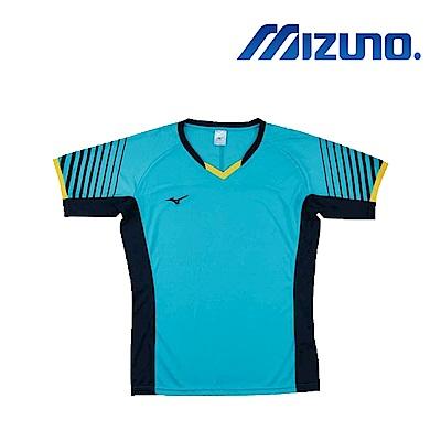 Mizuno 美津濃 男女 排球上衣 天藍x靛藍x黃 V2TA8G1819