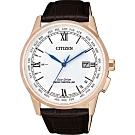 CITIZEN 星辰 光動能電波萬年曆手錶-42.7mm CB0152-16A