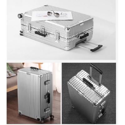 《箱旅世界》24吋 復古鋁框防刮行李箱、懷舊 登機箱 旅行箱 復古行李箱