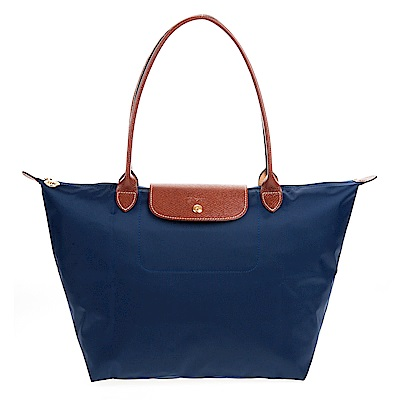 Longchamp Le Pliage 長把摺疊水餃包 (大款/深藍)