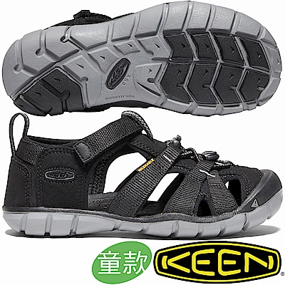 KEEN 1020690黑 Seacamp II CNX青少年編織涼鞋/兒童運動鞋