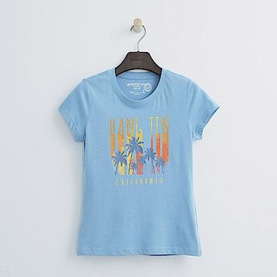 Hang Ten - 女裝 - 夏日海灘倒影上衣-藍色