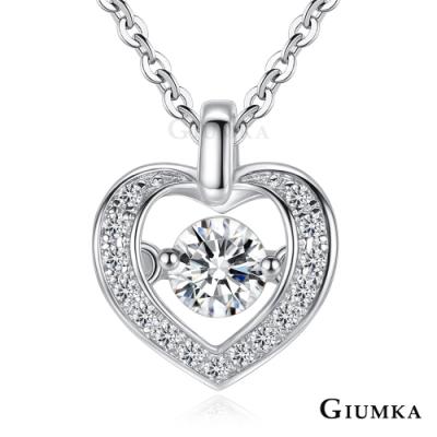 GIUMKA跳舞石項鍊925純銀愛心女短鏈戀愛回憶(三色任選)