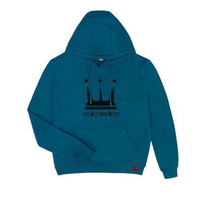 【DADA SUPREME】BASIS-EMBROIDERY HOODIE 中性刺繡抽繩連帽上衣-藍綠