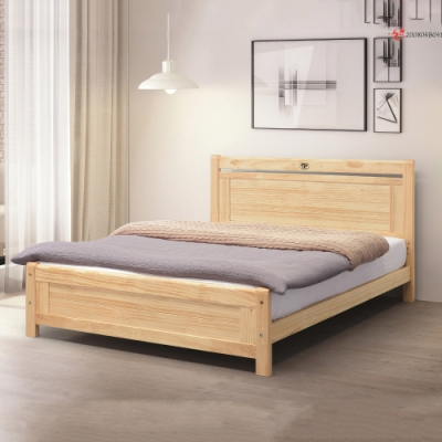 MUNA 諾拉5尺松木雙人床(4分床板) 156X195X94cm