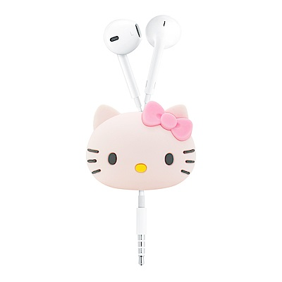 GARMMA Hello Kitty 立體公仔捲線器 蝴蝶粉