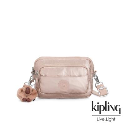 Kipling 金屬光玫瑰金多重背法前袋腰包-MERRYL