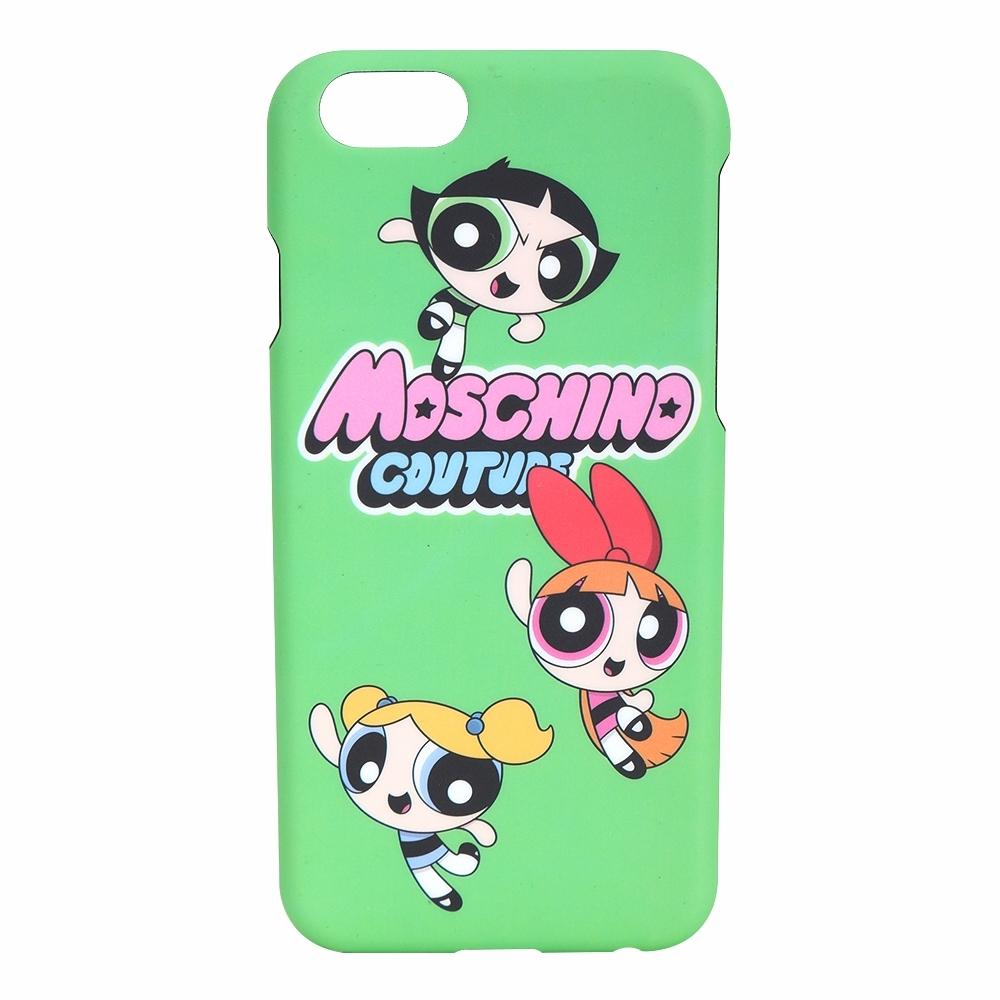 MOSCHINO iPhone 6/6S 飛天小女警印花手機殼(綠色)