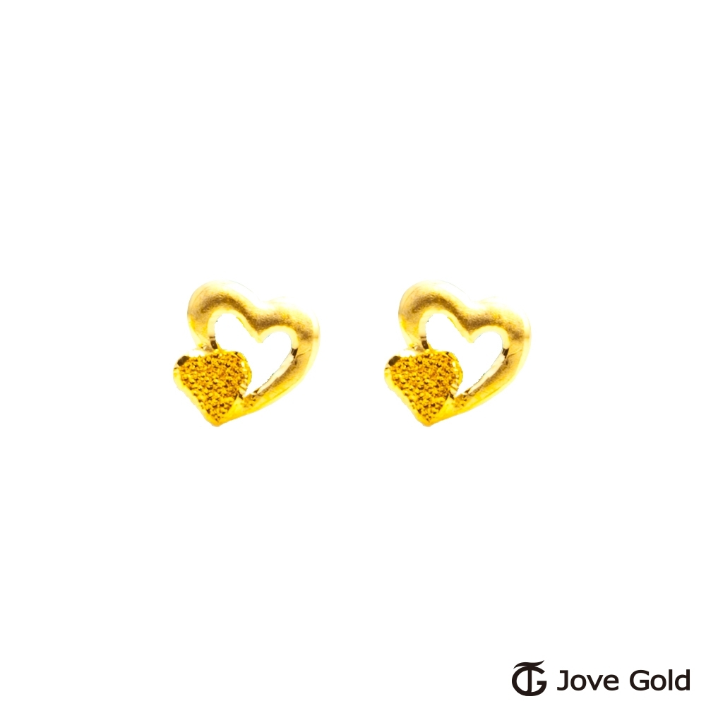 Jove Gold 漾金飾 幸福心情黃金耳環