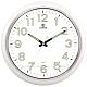 POWER霸王鐘錶-高質感螢光大字靜音大掛鐘-雲朵白-PW-8250-WWLKST-41.1CM product thumbnail 1