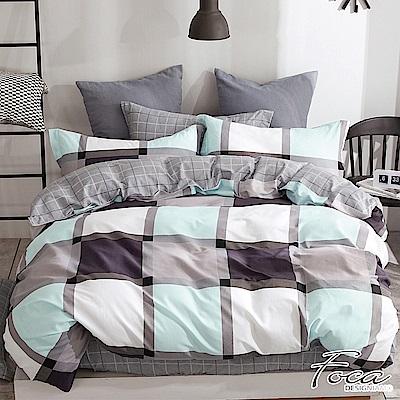 FOCA別樣生活-加大-100%精梳純棉四件式兩用被床包組