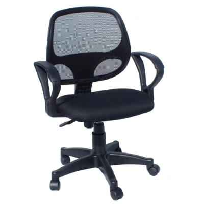 COLOR粉彩網背扶手電腦椅/辦公椅(四色)